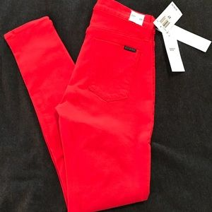 NWT Hudson Red Nico Jeans